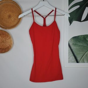 Lululemon Power Y Tank Top Yoga Workout Red